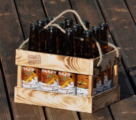Puidust õllekast, pudelikast, 12 pakk