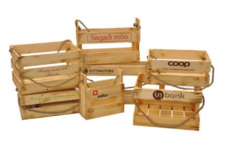 puidust kinkekastid, tootepakendid, ärikingitused